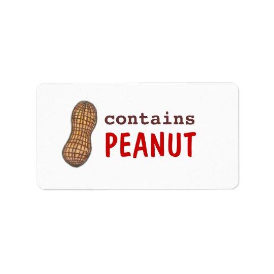 Contains Peanut Label