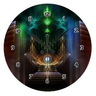 Contemplating Oz Fractal Art Clock