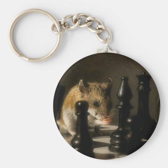 Contemplation Basic Round Button Key Ring