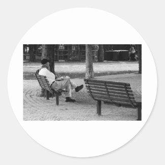 Contemplation Classic Round Sticker