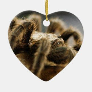 Contemplative Spider - Tarantula Art Image 8 Ceramic Heart Decoration