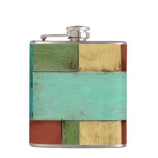 Contempoary Coastal Multicolored Painting Flasks