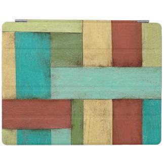 Contempoary Coastal Multicolored Painting iPad Cover