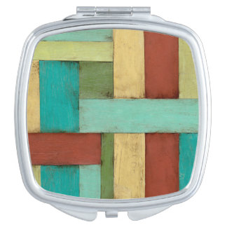 Contempoary Coastal Multicolored Painting Mirrors For Makeup