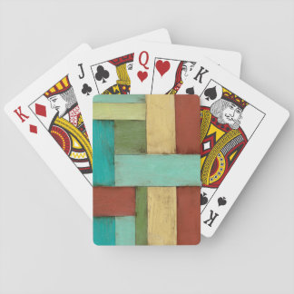 Contempoary Coastal Multicolored Painting Playing Cards