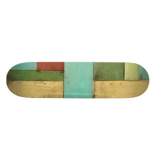 Contempoary Coastal Multicolored Painting Skate Deck