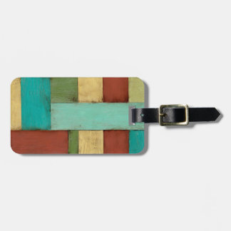 Contempoary Coastal Multicolored Painting Tag For Bags