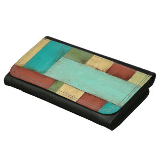 Contempoary Coastal Multicolored Painting Wallets