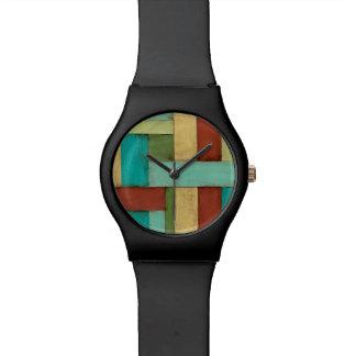 Contempoary Coastal Multicolored Painting Wrist Watch