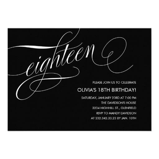 Contemporary 18th Birthday Invitations