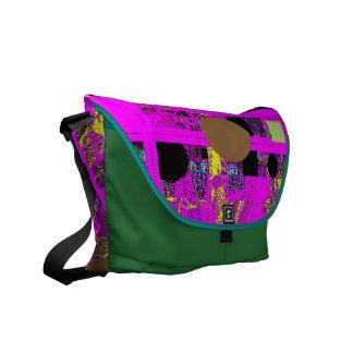 Contemporary Abstract Design Messenger Bags