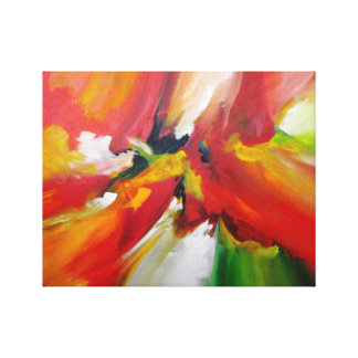 Contemporary Abstract Expressionist Painting Canvas Print