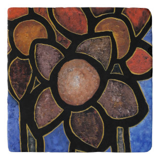 Contemporary Abstract Flower Trivets