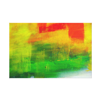 Contemporary Abstract Painting by Serdar Hizli Canvas Print