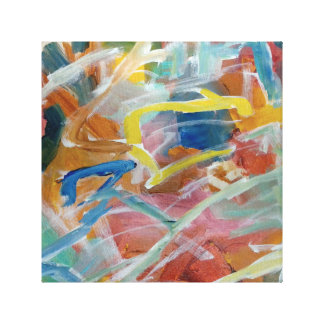 Contemporary abstract painting canvas print