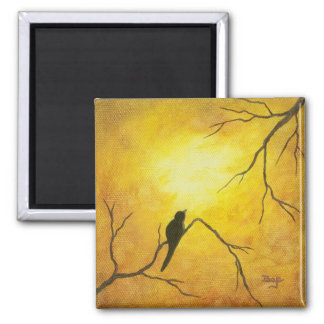 Contemporary Abstract Painting Design Square Magnet