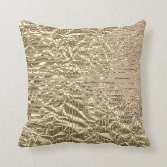 Contemporary Abstract Stripes Lines Faux Gold Pink Cushion