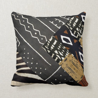 Contemporary African Graphic Throw Pillow