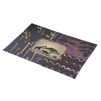 Contemporary: African Style Design Place Mat