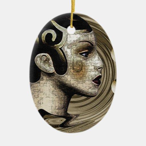 Contemporary: Art Deco/Art Christmas Tree Ornament