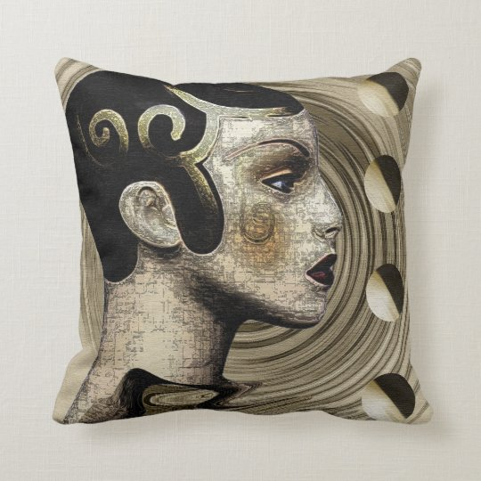 Contemporary: Art Deco/Art Nouveau Style Cushion