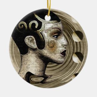 Contemporary: Art Deco/Art Round Ceramic Decoration