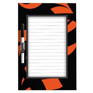 Contemporary Art Orange / Black Dry Erase Board