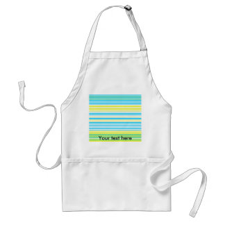 Contemporary baby blue yellow and white stripes apron