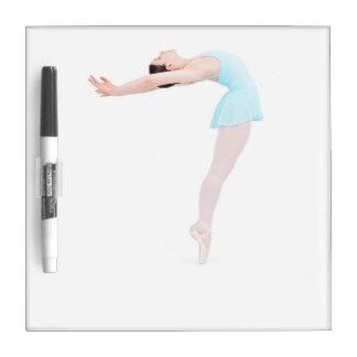 Contemporary ballet dancer in blue dry erase board