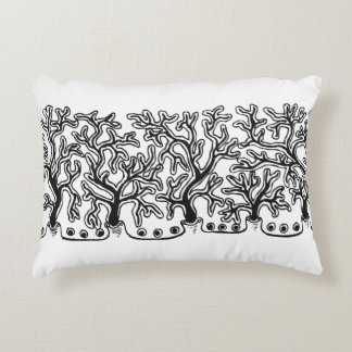 Contemporary Black and White Abstract Joshua Tree Decorative Cushion