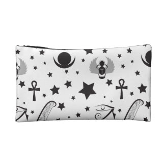 Contemporary Black and White Egyptian Handbag Makeup Bag