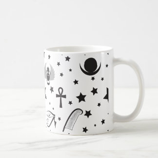 Contemporary Black and White Egyptian Mug