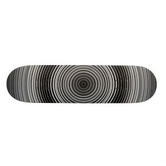 Contemporary Black and White Stylish Pattern Custom Skateboard