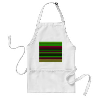Contemporary black green and pink stripes aprons