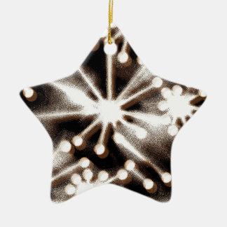Contemporary Black & White Art Christmas Tree Ornament