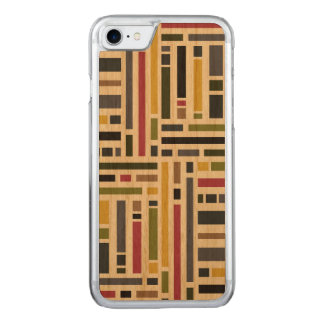 Contemporary Block stripe design Carved iPhone 7 Case