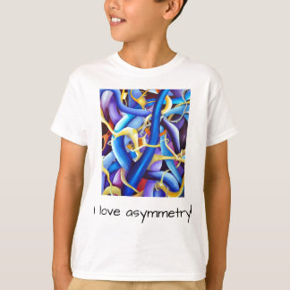 Contemporary Blue Abstract - Depth Illusion T-Shirt
