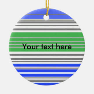 Contemporary blue and gray horizontal stripes ornament