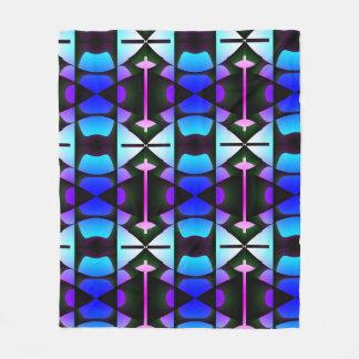 Contemporary Blue Columns Fleece Blanket