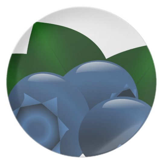 Contemporary Blueberry Plate