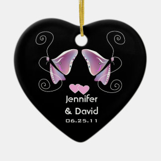Contemporary Butterfly Wedding Ornament