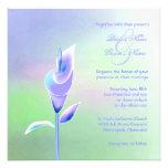 Contemporary Calla Lily Wedding Invitation