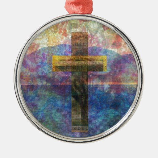 Contemporary Christian Art Modern Cross Christmas Tree