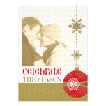 Contemporary Christmas 5 x 7 Photo Cards Personalized Announcement