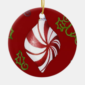 Contemporary Christmas Peppermint Candy Ornament