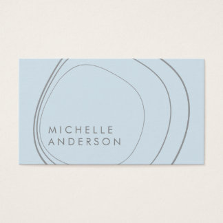 Contemporary Circular Pattern Business Card