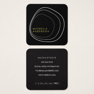 Contemporary Circular Pattern Square Business Card