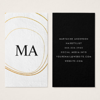 Contemporary Circular Pattern White Texture Business Card