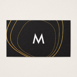 Contemporary Circular Pattern with Monogram Business Card