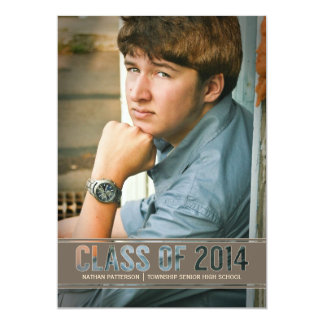 Contemporary Class of 2014 Photo Graduation Party Card